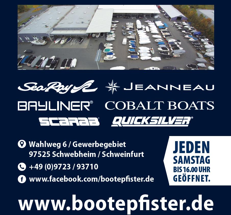 Flyer Boote Pfister - Jeden Samstag bis 16 Uhr geöffnet!